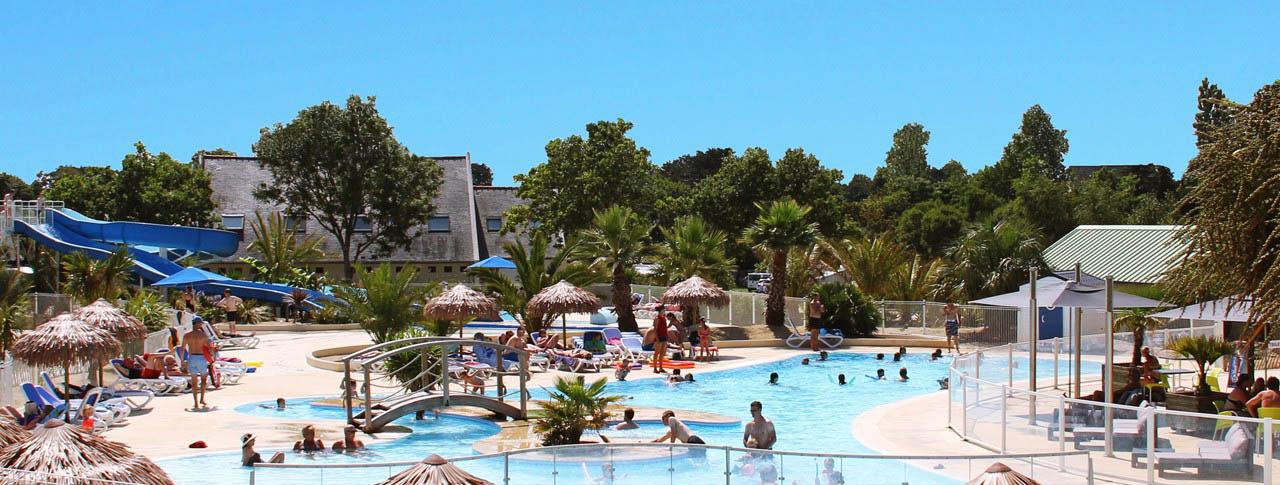 camping Le Cabellou piscine toboggan