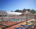 camping Les Brillas piscine couverte chauffée