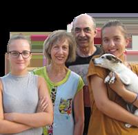 Éliane, Éric, Julia, Pauline (& Fifi) Fernandes - Camping Le Temps de Vivre - Nouvelle Aquitaine