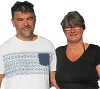 Christel & Fabrice Sanchis - Camping Le Haut Dick - Basse-Normandie