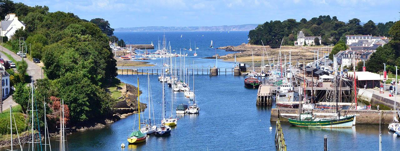 camping Kerleyou port Bretagne