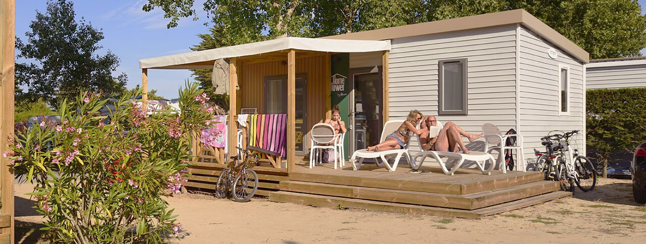 camping quiberon mobil home luxe