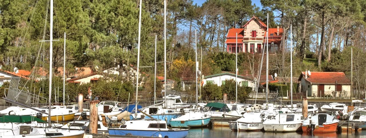 camping Le Médoc Bleu port et bateaux