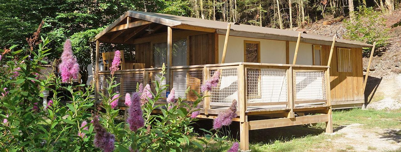 Camping La Plage cabane lodge