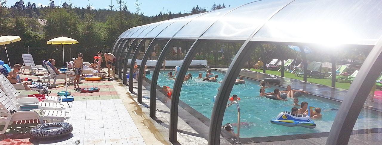 Camping La Sténiole piscine couverte chauffée