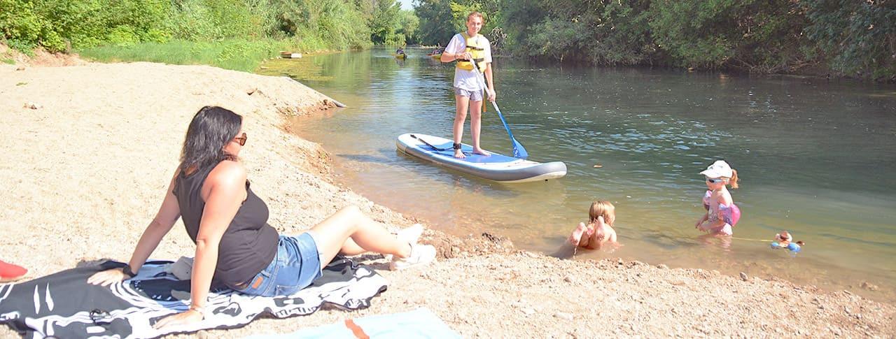 Camping Le Moulin des Iscles rivière Argens
