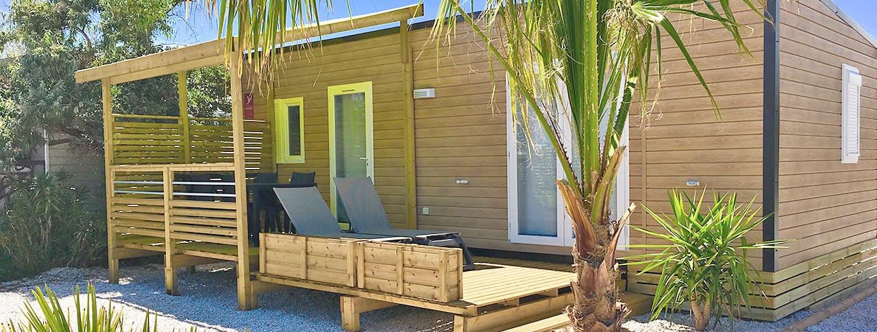 Camping Soleil d'Oc mobil homes à Narbonne-Plage