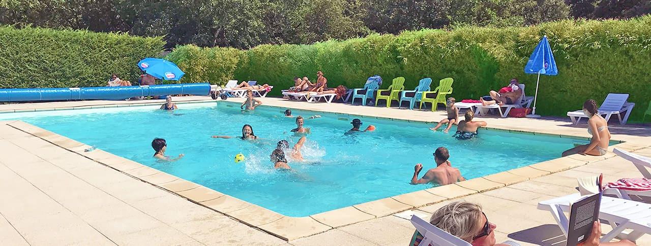 Camping Les Truffieres Drôme provencale piscine Grignan