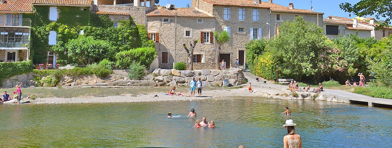 Camping Olivigne Bize Minervois rivière Cesse