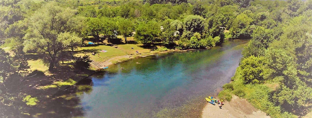 camping Le Saint Michelet rivière Cèze