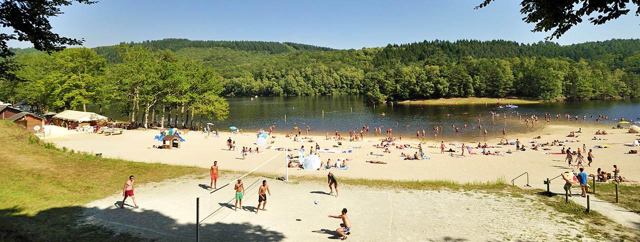 camping La Plage Treignac-sur-Vézère dans le Limousin