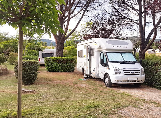 camping Provence Vallée emplacement pour camping car-5